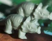 Triceratops Dinosaur Stud Post Earrings