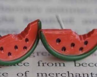 Watermelon Wave Stud Post Earrings