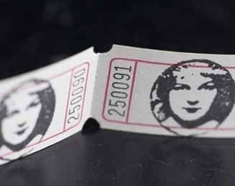 Vintage Style Hand Stamped Fair Maiden Carnival Tickets