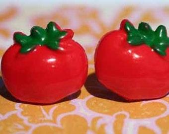 Ketchup Stud Post Earrings