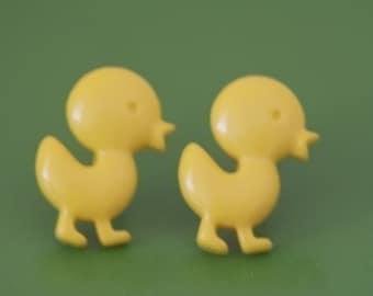 Duck Crossing Stud Post Earrings
