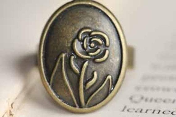Rose Blossom Vintage Inspired Ring