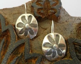 Sterling Silver  Earrings:  Flower Power - custom order