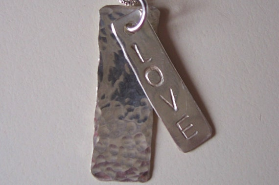 Personalized - Hand Stamped Sterling Pendant