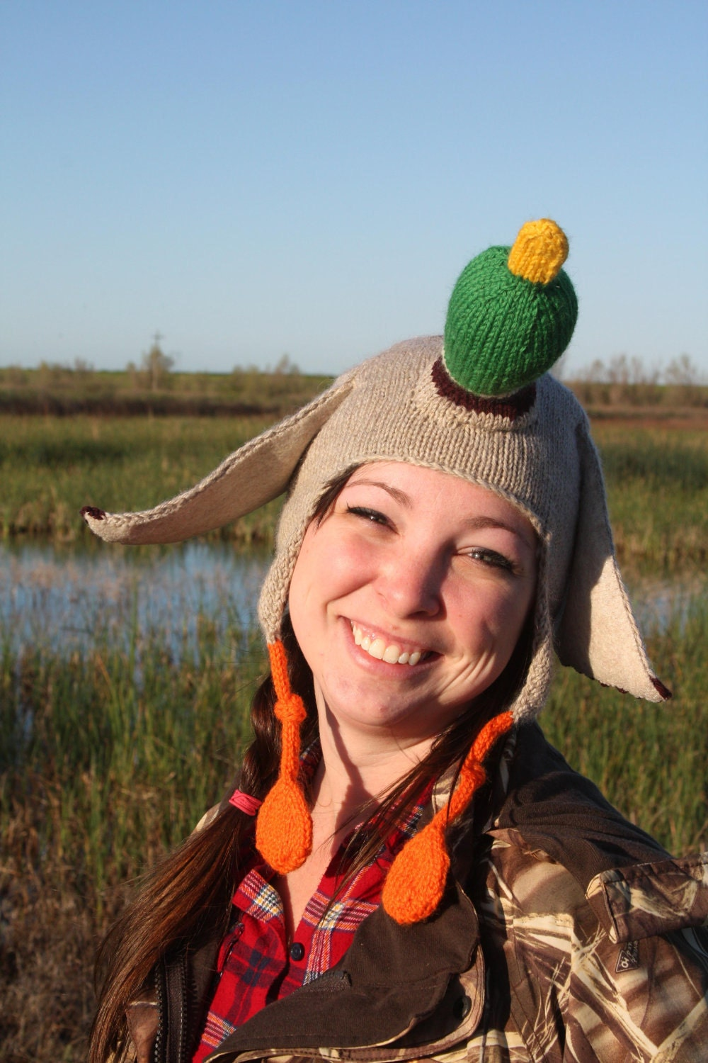Knitting Pattern For Duck Hat : PDF Knitting Pattern The Duck Hat