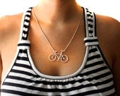 SALE! Handmade Sterling Silver Bike Necklace- Rachel Pfeffer
