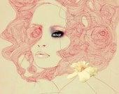 RESERVED listing for Esme Thoman Cricket - Fashion Illustration Art Print