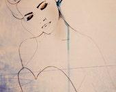 RESERVED listing for karenguinn1 Abstractions Aside - Fashion Illustration Art Print