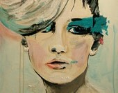 Push - Fashion Painting Art Print   // Limited Edition