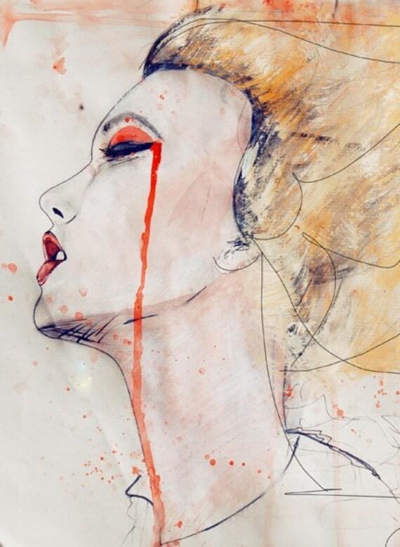Orange Velvet - Fashion Illustration Art Print