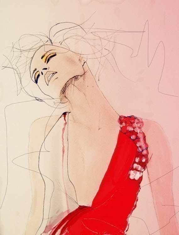 Atmosphere - Fashion Illustration Art Print // Limited Edition