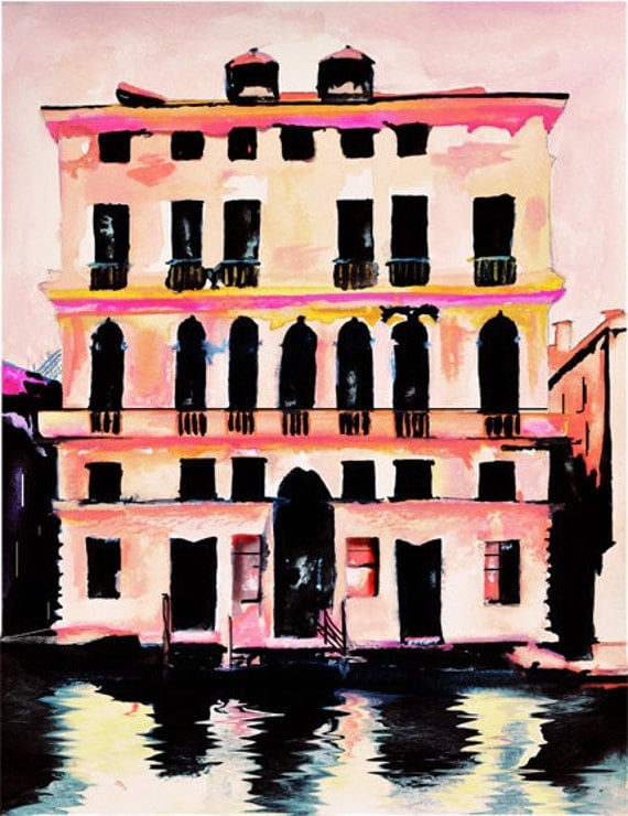 RESERVED listing for roxx1187 Prada Palazzo - Art Print