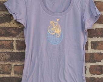 Bicycle Shirt -SALE - Road Bike on Globe Women's T