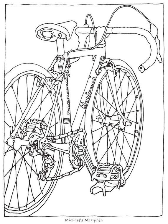 a bicycle coloring book vol 2 - Bicycle Coloring Book