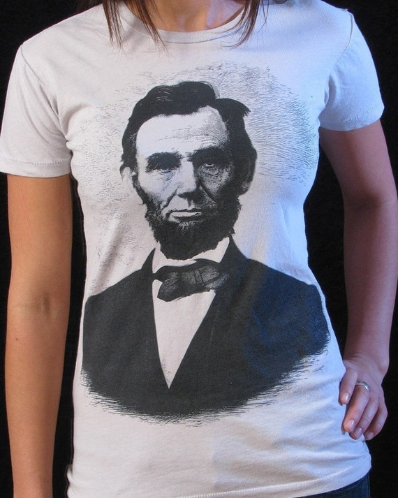 Abraham lincoln shirt women 39 s t shirt abe lincoln for T shirt printing lincoln