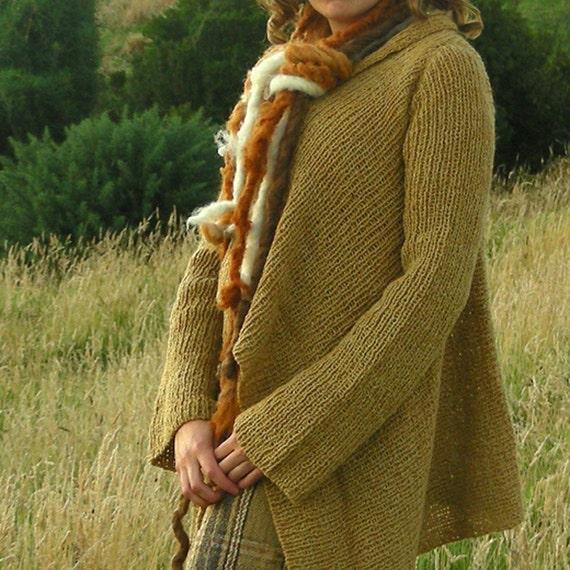 wool and silk knitten coat