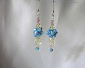 Clearance:  Pastel Crystal Earrings