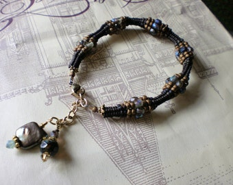Chocolate Brown Ndebele Bracelet with Dangles