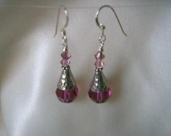 Clearance Sale: Fuchia Crystal Earrings