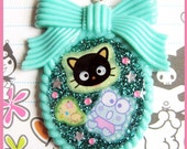 SALE - Chococat Cameo Necklace