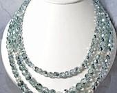 Seafoam Green Multi-strand necklace set
