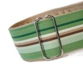 Custom MARTINGALE Dog Collar  - Country Club Green