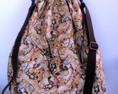 Butterfly Collage Lace Knitting Large Drawstring Project Bag