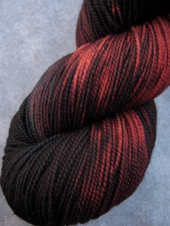 Hand Dyed Sock Yarn - SW Merino - 400 yards - Dark December