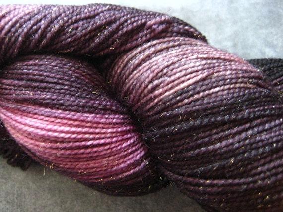 "Hand Dyed Sparkle Sock Yarn - 438 yds - ""Siren's Song"""