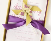 Luxury, Boxed, Classy Wedding Invitation - POMTIKI PINWHEEL