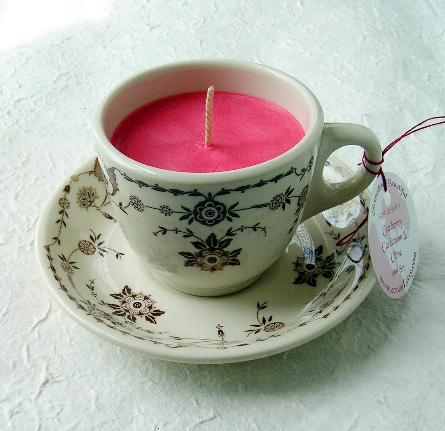 Cranberry Cardamom and Clove Soy Teacup Candle