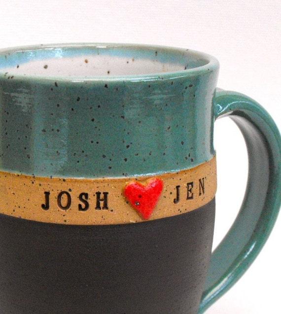 Personalized Mug, Custom Name Mug (TM), Perfect Wedding Gift,  Wheel Thrown