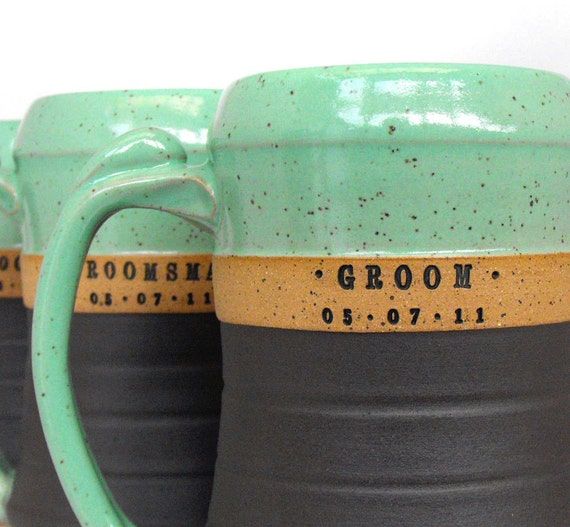 Custom, Personalized Beer Steins, Tankards,  Scratch Made,  Excellent Groomsman, Best Man, Gift