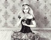 Alice In Wonderland Art 8x10 Art Fairy Tale