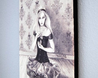 Alice In Wonderland Limited Edition Canvas Giclee Print 10x13