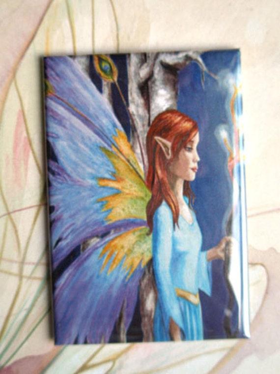 Fairy Magnet Fantasy Art Magnet Butterfly Magnet Fairy Art Trees Forest