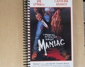 MANIAC spiral journal made from recylded VHS tape