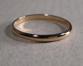 14 kt Yellow, White or Rose Gold Band ......  Ring or Stacking Ring ...