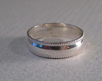 Sterling Silver Band Ring ... - Wedding Ring Style-