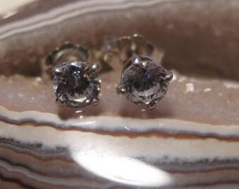 CZ  post earrings..... Sterling Silver ...........                              e212