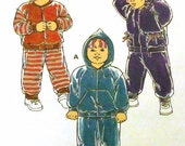 Childs Zip-up Sweatshirt and pants pattern, Sz 1, 2, 3, 4