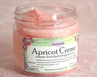 Whipped Soap Apricot Creme - Creme Fraiche Vegan 2 oz Sample Size