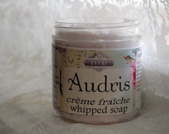 Audris 8 oz Creme Fraiche Whipped Soap VEGAN