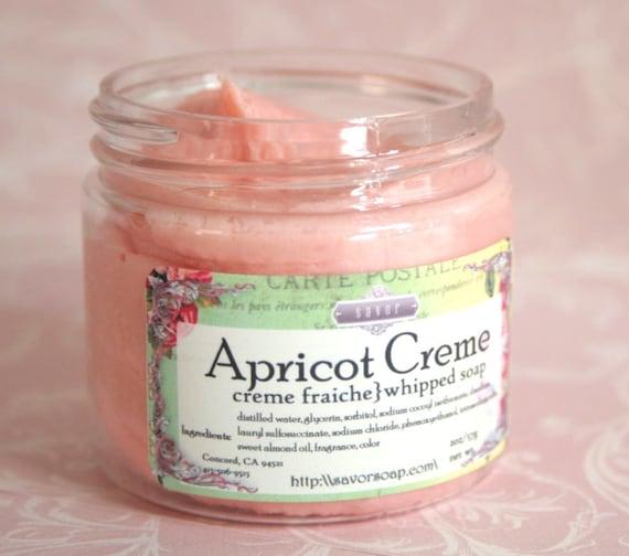 whipped soap apricot creme creme fraiche vegan 2 oz sample. Black Bedroom Furniture Sets. Home Design Ideas