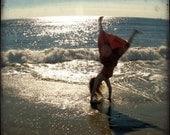 Joyous Seaside Cartwheel Photograph - Bliss - Happiness - Beach Cartwheels