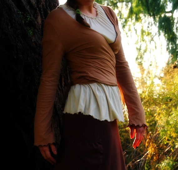 Up, Down, & Around Wrap Top in Organic Jersey Knit Cotton, Made to Order