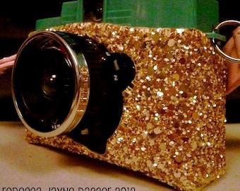 Sparkly Gold Diana Mini Camera Case