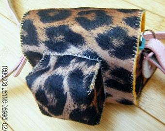 Leopard Felt Diana Mini Camera Case