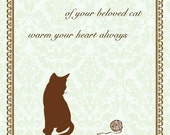 Cat with yarn - Pet Sympathy Card