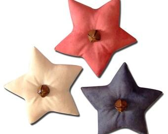 Set of 3 Patriotic Americana Bell Stars